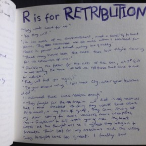 Alphabet Challenge: R is for Retribution
