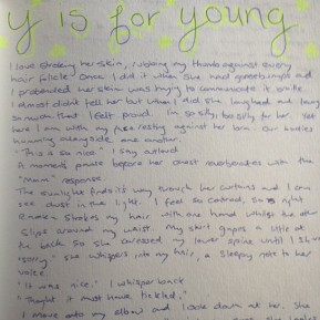 Alphabet Challenge: Y is For Young