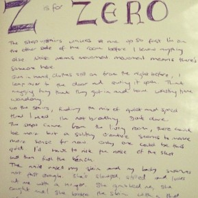Alphabet Challenge: Z is for Zero